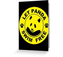 swim for gold Greeting Card