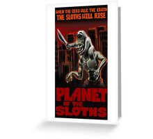 Planet Of The Sloths Greeting Card