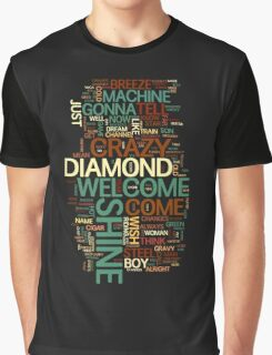 Wish You Were Here 'word cloud' Graphic T-Shirt