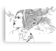 Hummingbird Girl Canvas Print