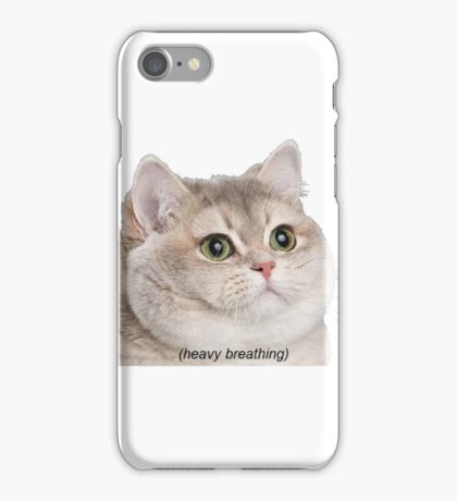 Heavy Breathing Cat- Improved iPhone Case/Skin