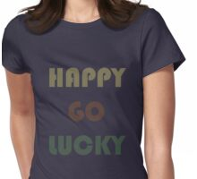 HAPPY-GO-LUCKY Womens Fitted T-Shirt