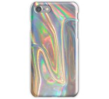 Holographic waves in silver iPhone Case/Skin