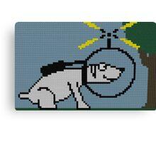 Spacedog at Tree Pixel Canvas Print