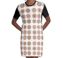 My Favorite Foot Flowers Graphic T-Shirt Dress