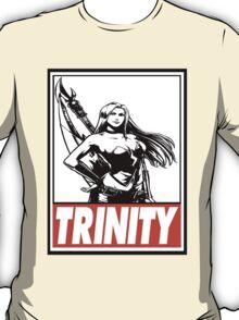 Trish Trinity Obey Design T-Shirt