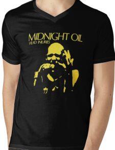 Midnight Oil Mens V-Neck T-Shirt