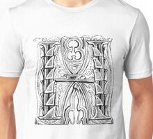 Baroque Alphabet Letter H Unisex T-Shirt