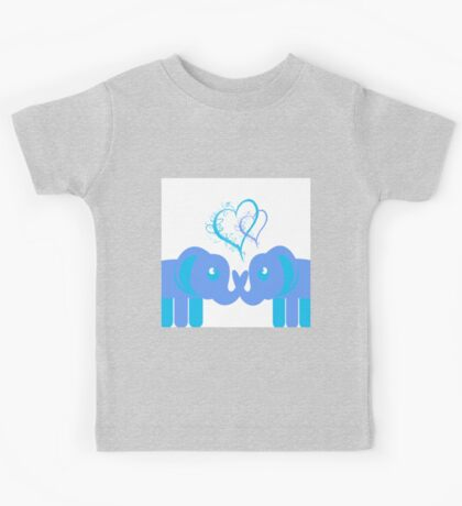 Elephant Love Blues Kids Tee