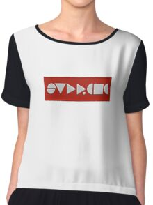 Supreme Being Embroidered Abstract Chiffon Top
