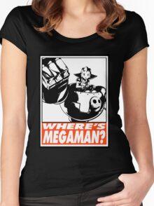 Tron Bonne Where's Megaman? Obey Design Women's Fitted Scoop T-Shirt