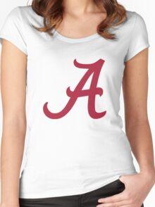 Alabama Crimson Women's Fitted Scoop T-Shirt