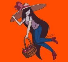 Marceline with Big Floppy Hat Kids Tee