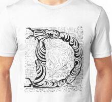 Baroque Alphabet Letter D Unisex T-Shirt