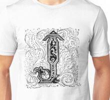 Baroque Alphabet Letter J Unisex T-Shirt