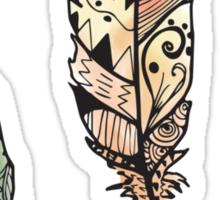 Watercolor Quill design Sticker