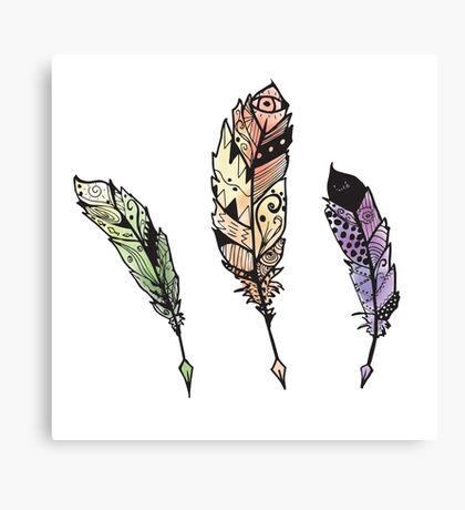 Watercolor Quill design Canvas Print