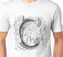 Baroque Alphabet Letter G Unisex T-Shirt