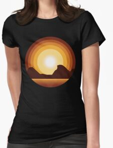 Circle Sunset Womens Fitted T-Shirt