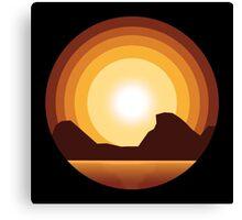 Circle Sunset Canvas Print