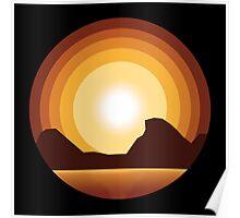 Circle Sunset Poster