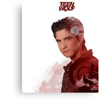 Scott McCall Double Exposure Canvas Print