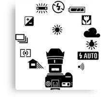 Camera Mode Dial Canvas Print