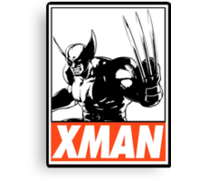 Wolverine Xman Obey Design Canvas Print