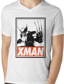 Wolverine Xman Obey Design Mens V-Neck T-Shirt