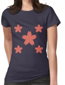 Sakura Cherry Blossom Floral Pattern  Womens Fitted T-Shirt