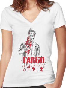 Steve Buscemi in Fargo Women's Fitted V-Neck T-Shirt