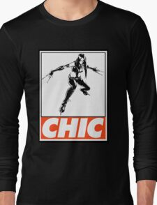 X-23 Chic Obey Design Long Sleeve T-Shirt