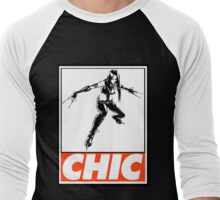 X-23 Chic Obey Design Men's Baseball ¾ T-Shirt