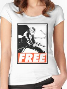 Vergil Free Obey Design 2 Women's Fitted Scoop T-Shirt