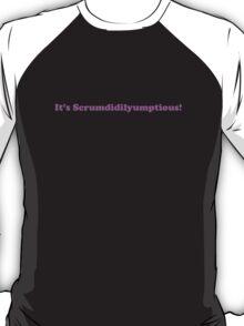 Willy Wonka - It's Scrumdidilyumptious - Purple Font T-Shirt