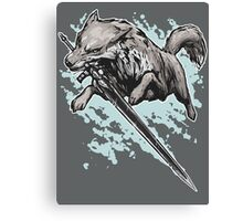 The Swordswolf Canvas Print