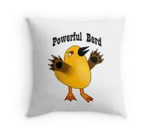 Powerful Berd Throw Pillow