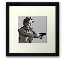 Hillary Master Blaster Framed Print