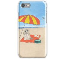 Pawprints on the Beach iPhone Case/Skin