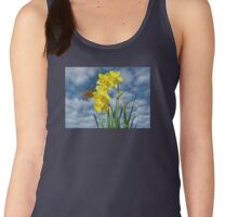 Copper Butterfly with Daffodils  Women's Tank Top