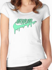 Sad Boys Melt Logo Women's Fitted Scoop T-Shirt