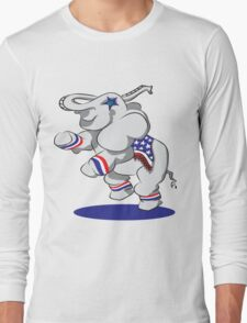 Patriotic Elephant  Long Sleeve T-Shirt
