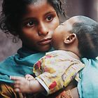 Child mother and infant, Kolkota by indiafrank