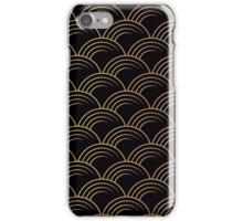 Art deco,gold,black,chic,elegant,1020's,great the Gatsby,pattern,retro,vintage, beautiful,scale,shaped,decor,decorative,contemporary,style,stylish iPhone Case/Skin