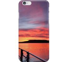 Crimson Sunrise waterscape image iPhone Case/Skin