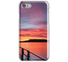 Crimson Sunrise waterscape image iPhone Case/Skin