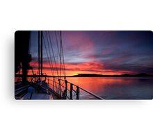 Crimson Sunrise waterscape image Canvas Print