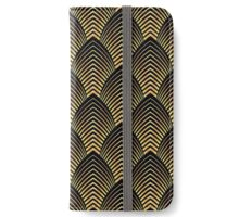 Art deco,gold,black,chic,elegant,1020's,great the Gatsby,pattern,retro,vintage, beautiful,scale,shaped,decor,decorative,contemporary,style,stylish iPhone Wallet/Case/Skin