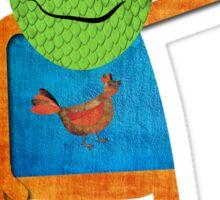 Monsters Love Chickens Sticker Sticker