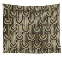 Art deco,gold,black,chic,elegant,1020's,great the Gatsby,pattern,retro,vintage, beautiful,scale,shaped,decor,decorative,contemporary,style,stylish Wall Tapestry
